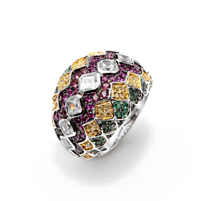Серебряное кольцо Прочие и Фианит арт. r907911 r907911