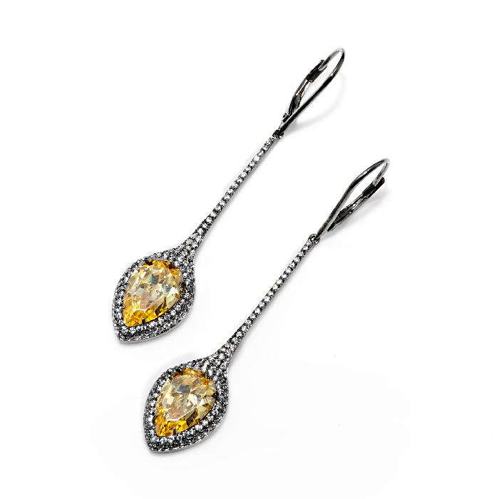 Серебряные серьги с цирконием арт. e905196-a e905196-a