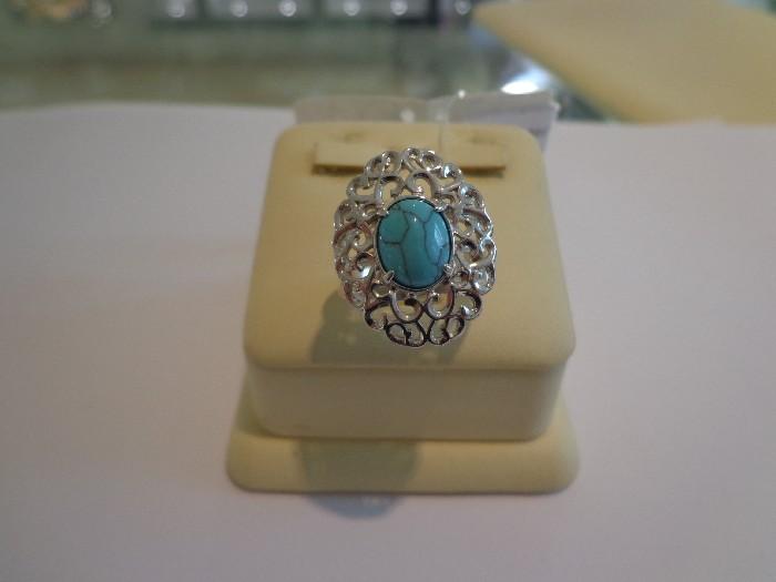 Серебряное кольцо Бирюза арт. Х7200753В Х7200753В