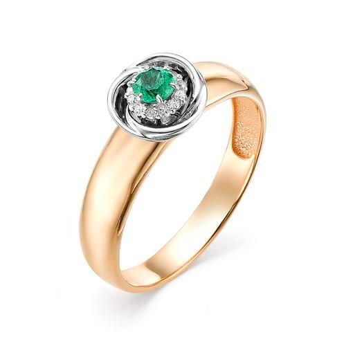 Золотое кольцо Бриллиант и Изумруд арт. 11534-101 11534-101