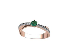 Золотое кольцо Бриллиант и Изумруд арт. 911005и 911005и
