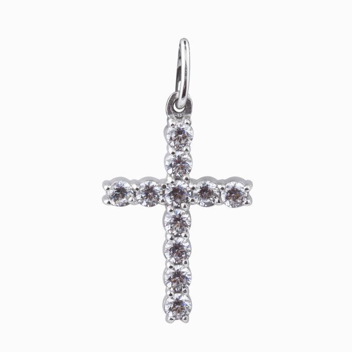 Серебряный крест с фианитом арт. 45381 45381