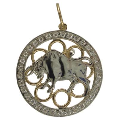Золотой знак зодиака Телец арт. 320633 320633