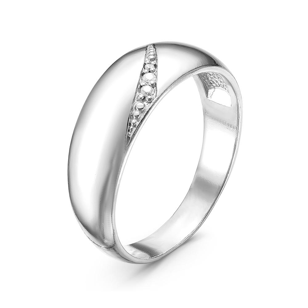 Обручальное кольцо из серебра с фианитом арт. 2388626д 2388626д