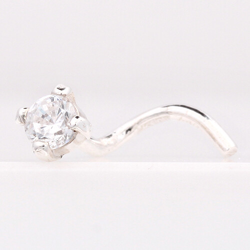 Пирсинг в нос из серебра с фианитом арт. 44049 44049