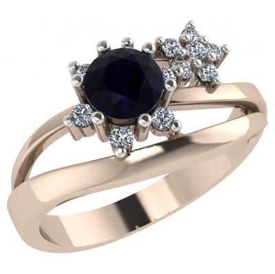 Золотое кольцо Гранат и Фианит арт. 1022671-11130-г 1022671-11130-г