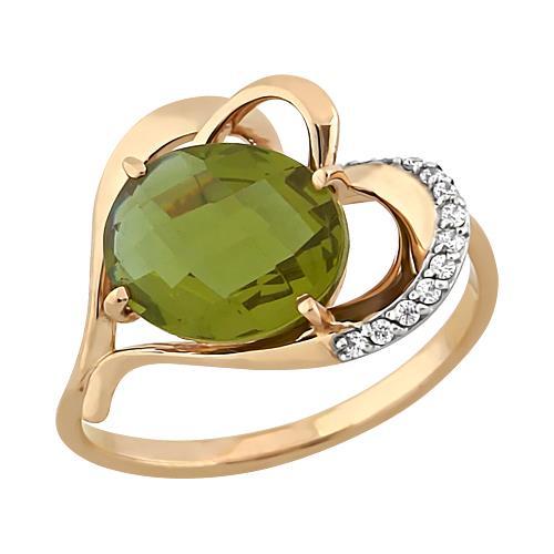 Золотое кольцо Гранат и Фианит арт. 11801682 11801682