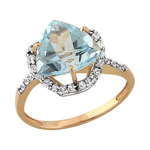 Золотое кольцо Гранат и Фианит арт. 11801657 11801657