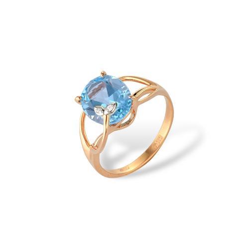 Золотое кольцо Гранат и Фианит арт. 1180406 1180406