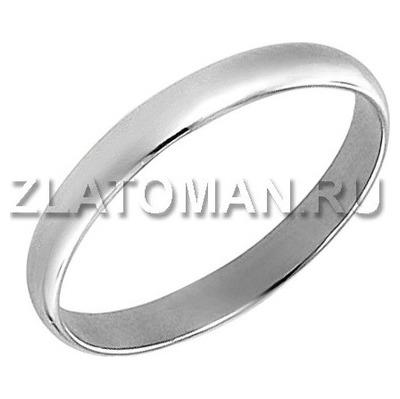 Обручальное кольцо из белого золота арт. 01о020343 01о020343