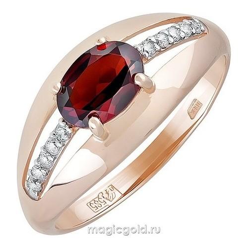 Золотое кольцо Гранат и Фианит арт. кл-716к-г кл-716к-г