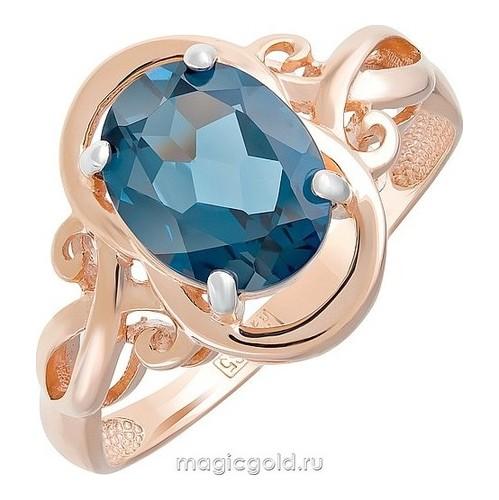 Золотое кольцо Топаз арт. кл-588к-тл кл-588к-тл