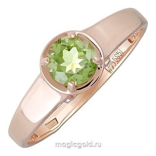 Золотое кольцо Фианит и Хризолит арт. кл-912к-х кл-912к-х