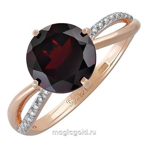 Золотое кольцо Гранат и Фианит арт. кл-680к-г кл-680к-г
