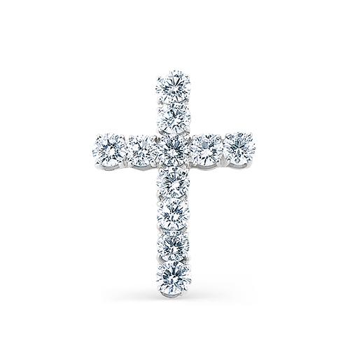 Крест из лимонного золота с бриллиантом арт. 8-332 8-332