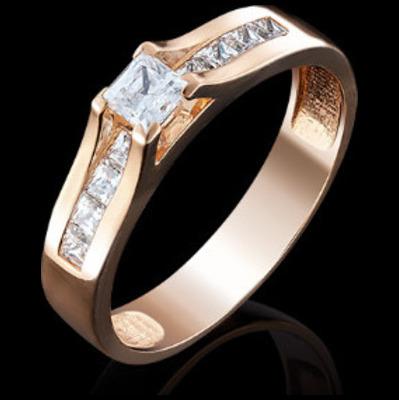 Золотое кольцо Кристалл сваровски арт. 01-4943-00-501111038 01-4943-00-501111038