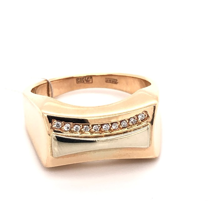 Золотая печатка с бриллиантом Бриллиант арт. 91621964 91621964