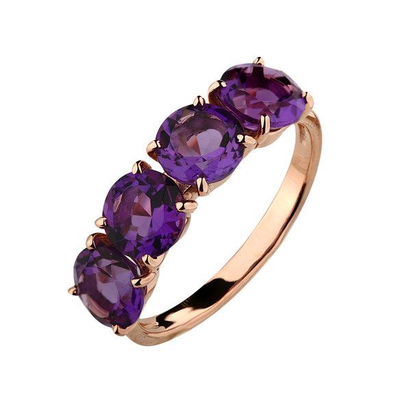Золотое кольцо Аметист арт. 1351124 1351124