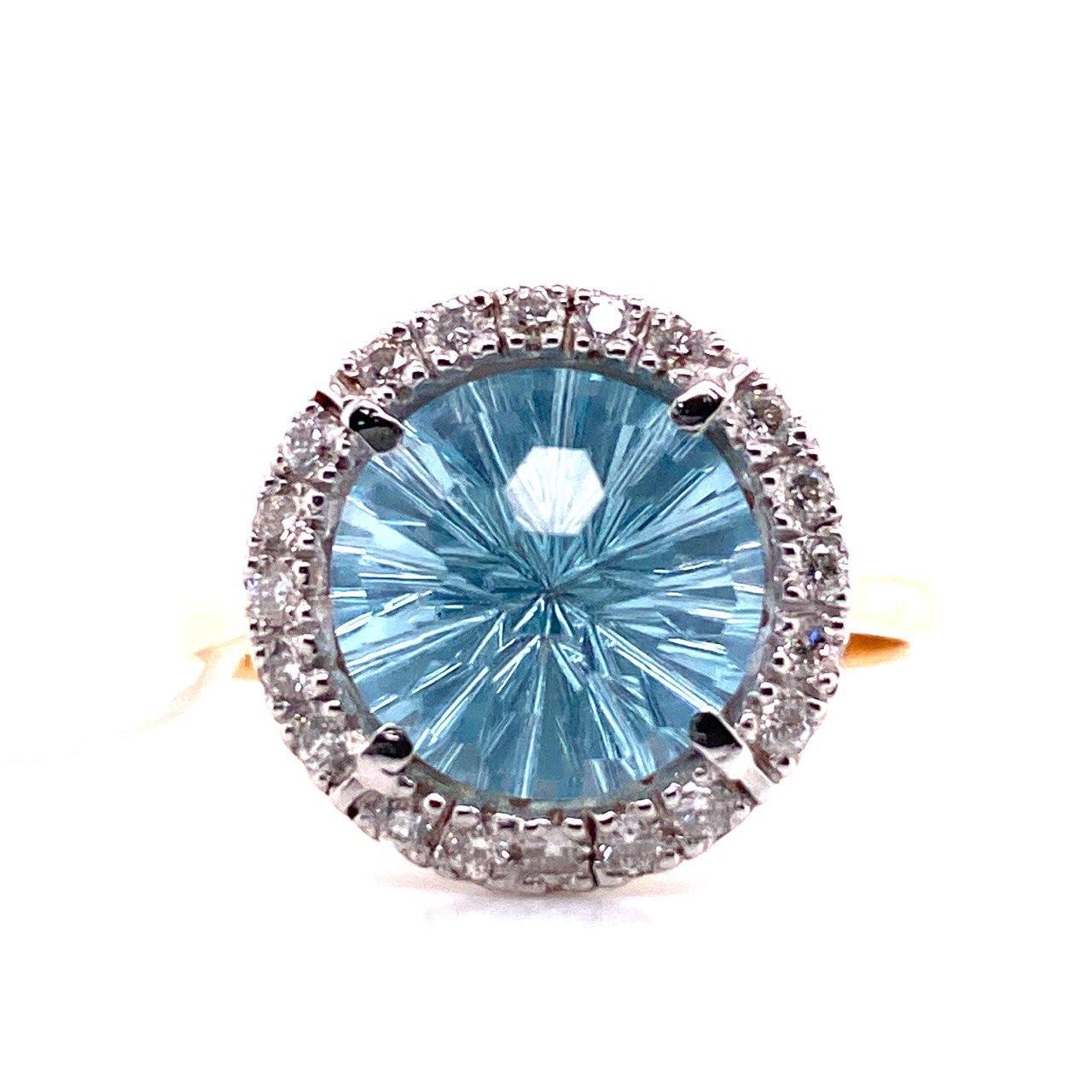 Золотое кольцо Бриллиант и Топаз арт. г3021 г3021