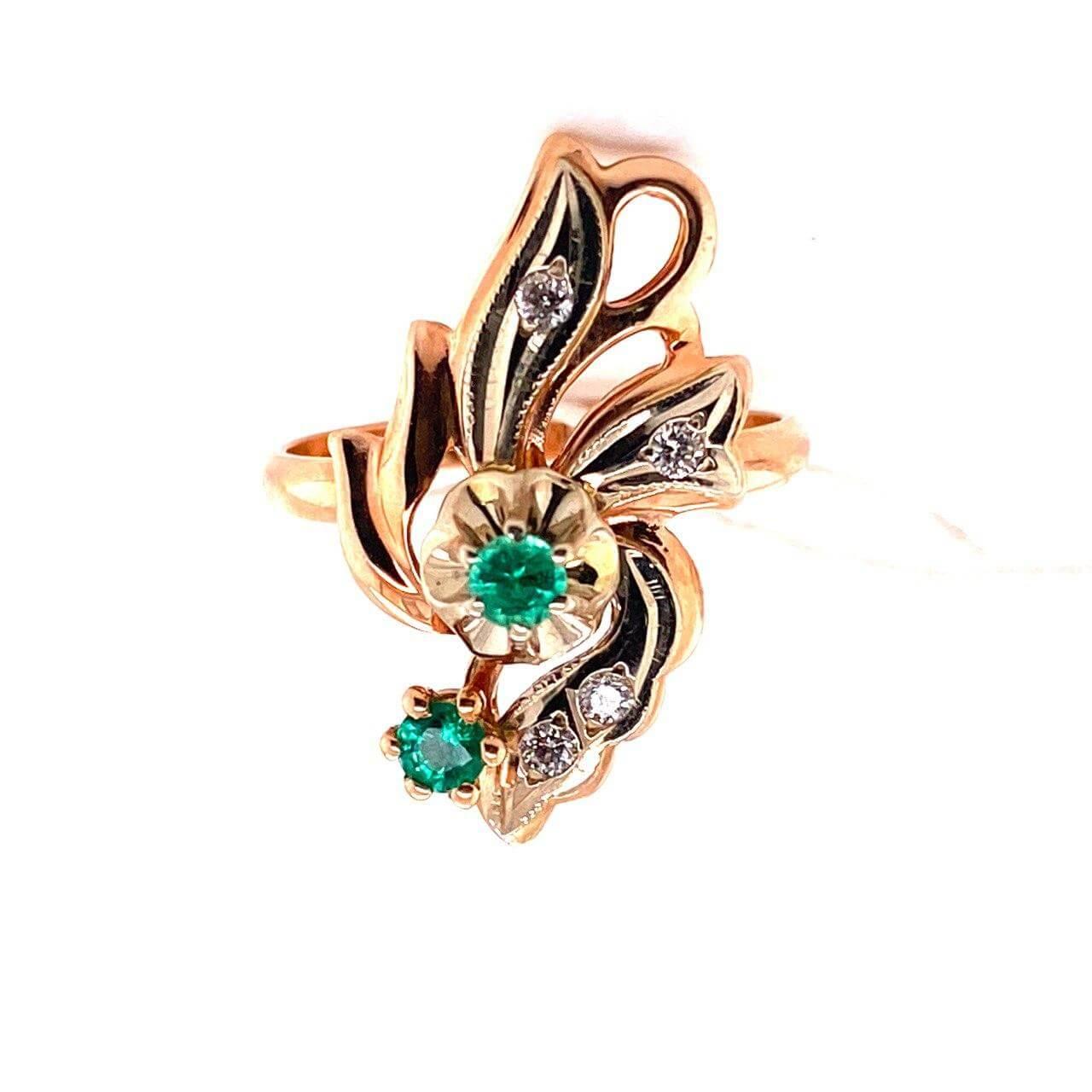 Золотое кольцо Бриллиант и Изумруд арт. г3090 г3090