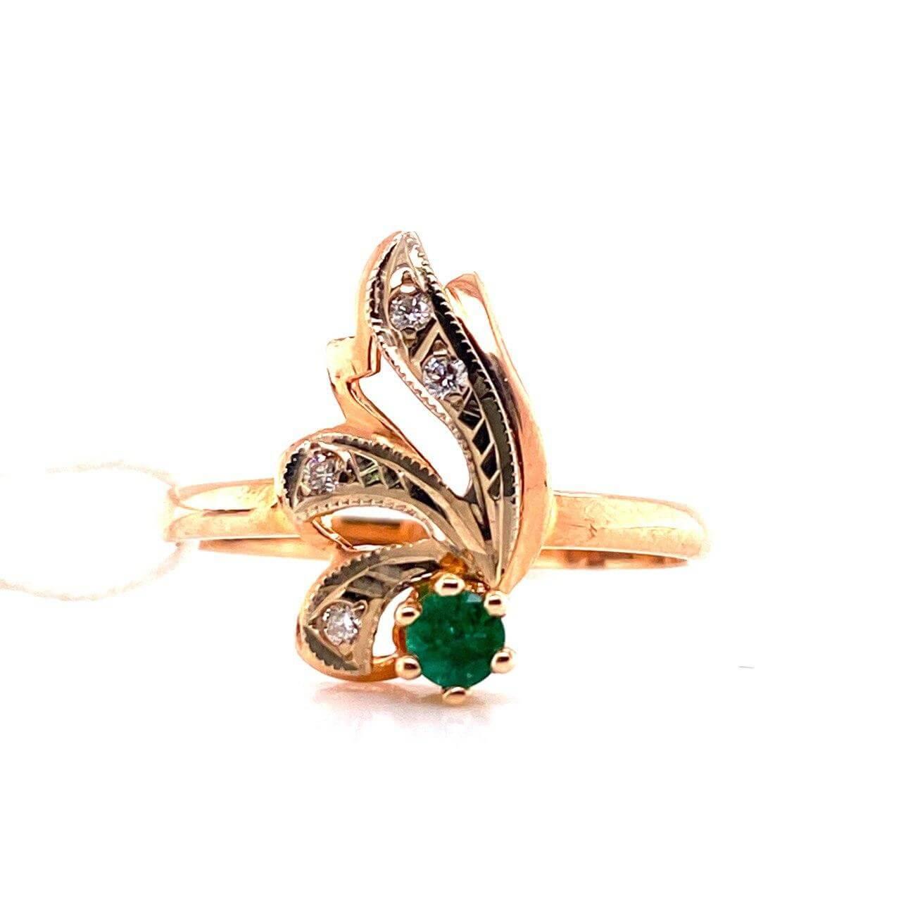 Золотое кольцо Бриллиант и Изумруд арт. г6630 г6630