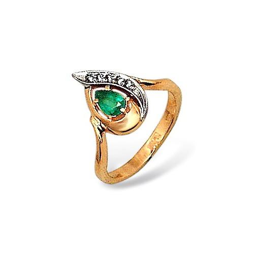 Золотое кольцо Бриллиант и Изумруд арт. 14000196 14000196