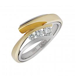Кольцо из лимонного золота Бриллиант арт. 010587-ж/б 010587-ж/б