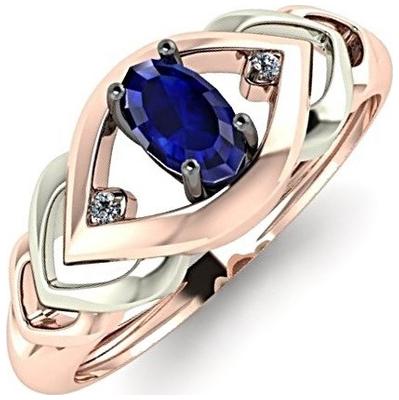 Золотое кольцо Бриллиант и Сапфир арт. r01-d-l-34367-sa r01-d-l-34367-sa