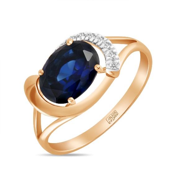 Золотое кольцо Бриллиант и Сапфир арт. r01-d-l-33805-ss r01-d-l-33805-ss