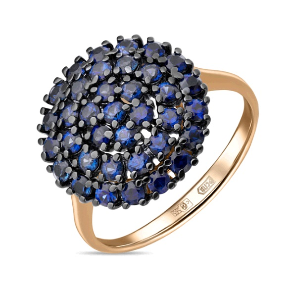 Золотое кольцо Сапфир арт. r01-c-33701-sa r01-c-33701-sa