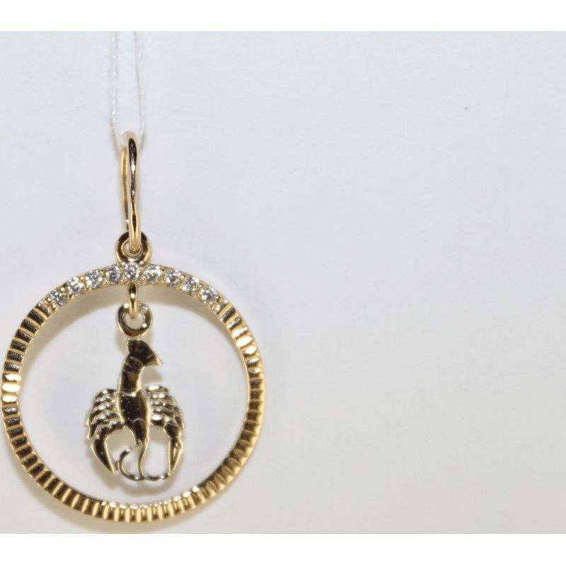 Золотой знак зодиака Скорпион арт. 3100239 3100239