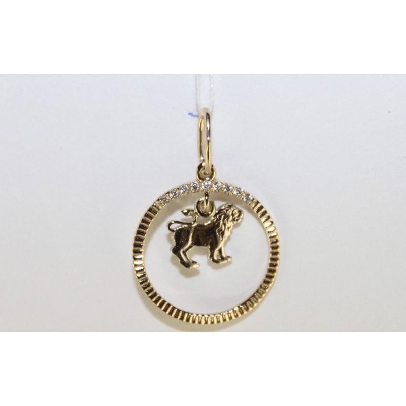 Золотой знак зодиака Лев арт. 3100217 3100217