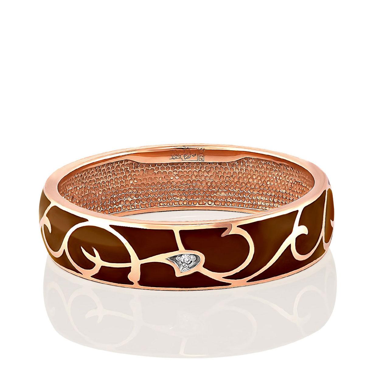 Обручальное кольцо из золота с бриллиантом арт. 1-0337-1016 1-0337-1016