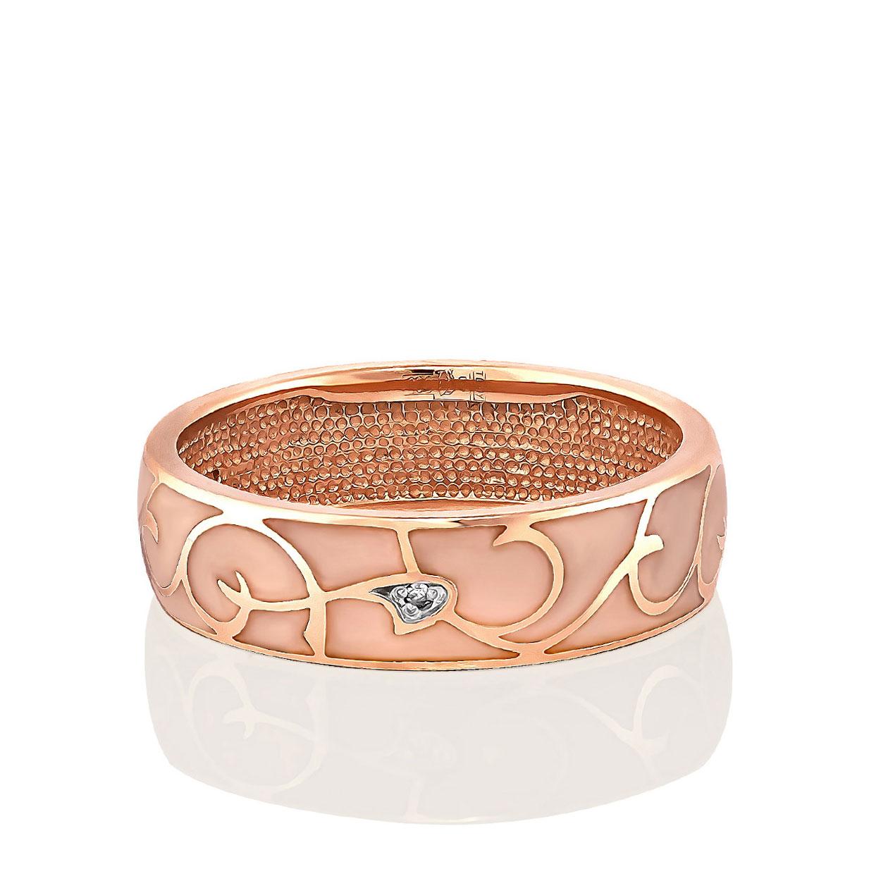 Обручальное кольцо из золота с бриллиантом арт. 1-0337-1021 1-0337-1021