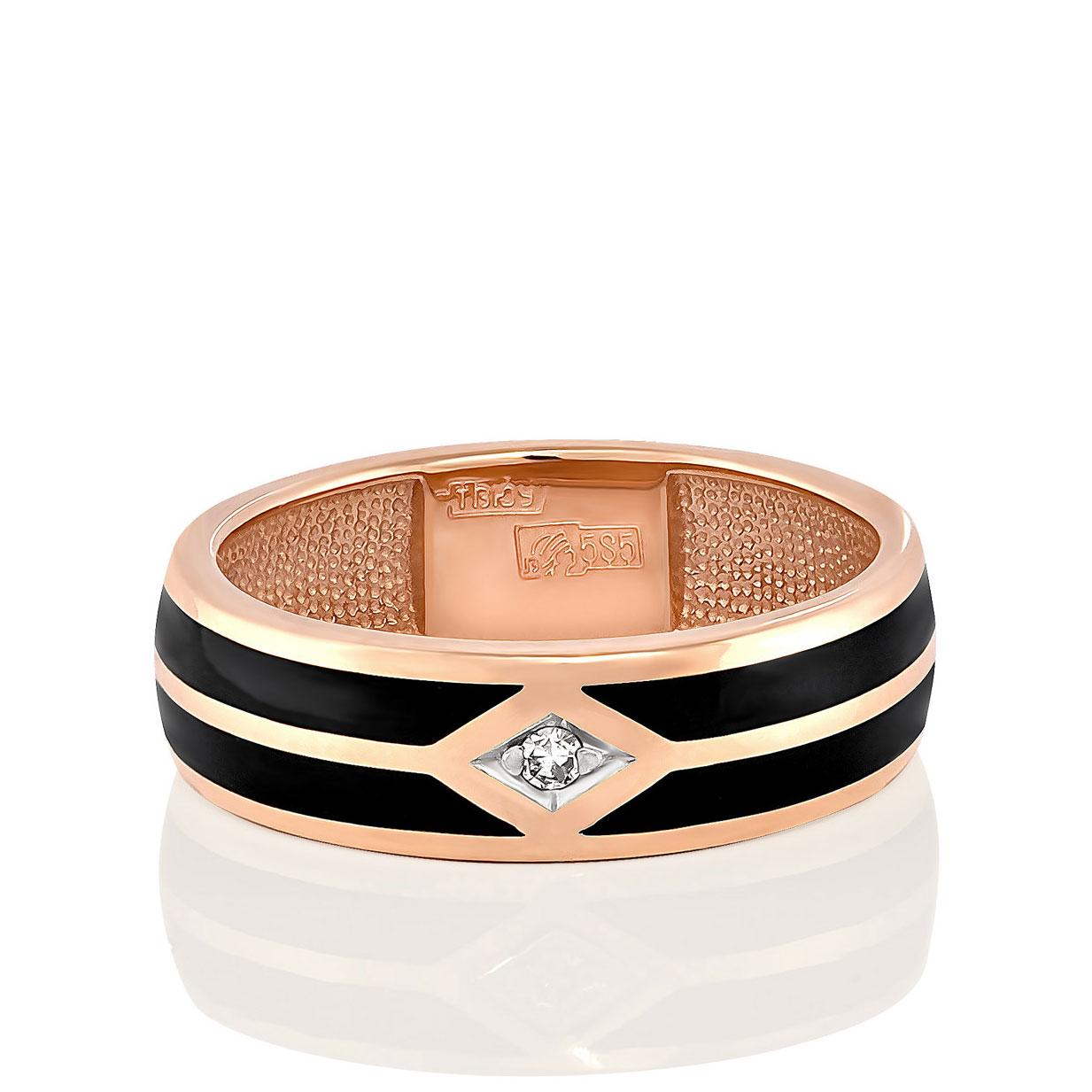Обручальное кольцо из золота с бриллиантом арт. 1-0367-1002 1-0367-1002