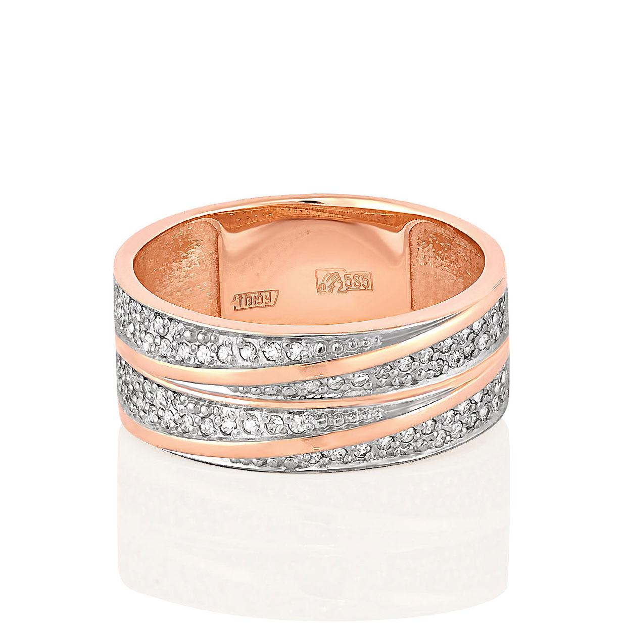 Обручальное кольцо из золота с бриллиантом арт. 1-0418-1000 1-0418-1000