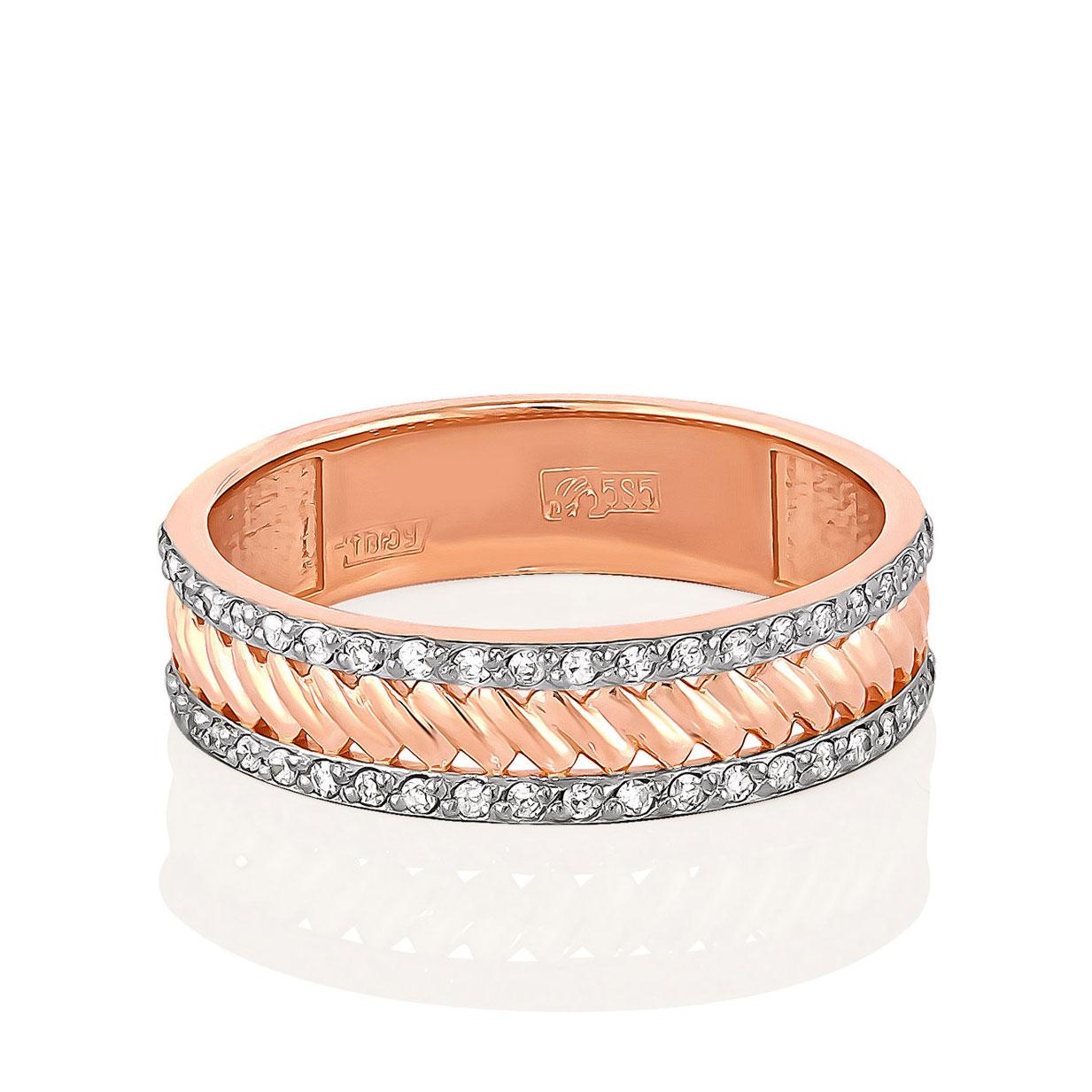 Обручальное кольцо из золота с бриллиантом арт. 1-0419-1000 1-0419-1000