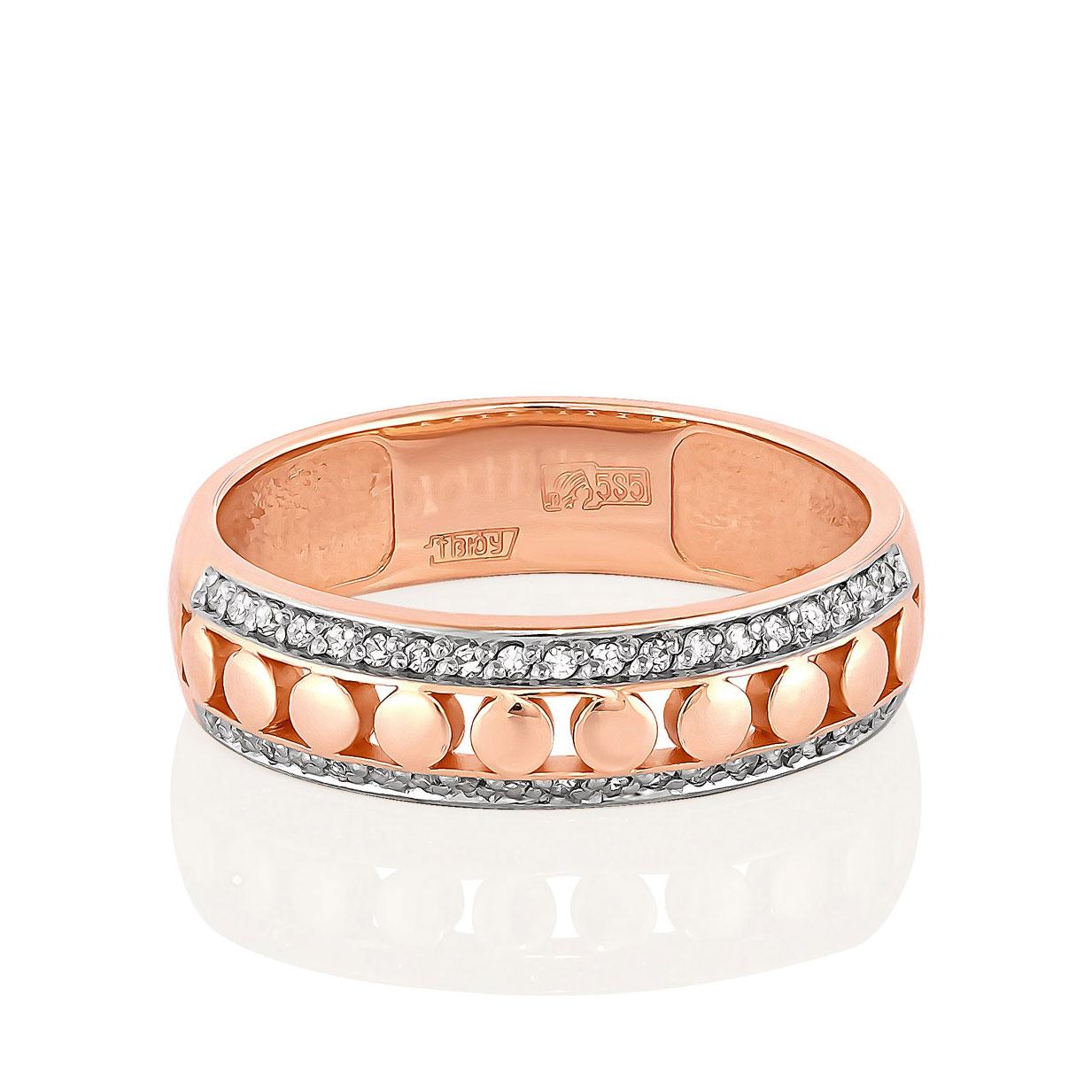 Обручальное кольцо из золота с бриллиантом арт. 1-0424-1000 1-0424-1000