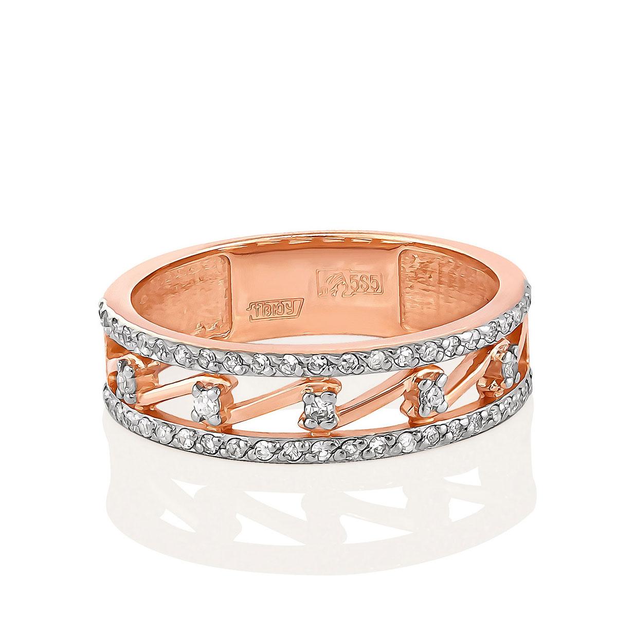 Обручальное кольцо из золота с бриллиантом арт. 1-0425-1000 1-0425-1000