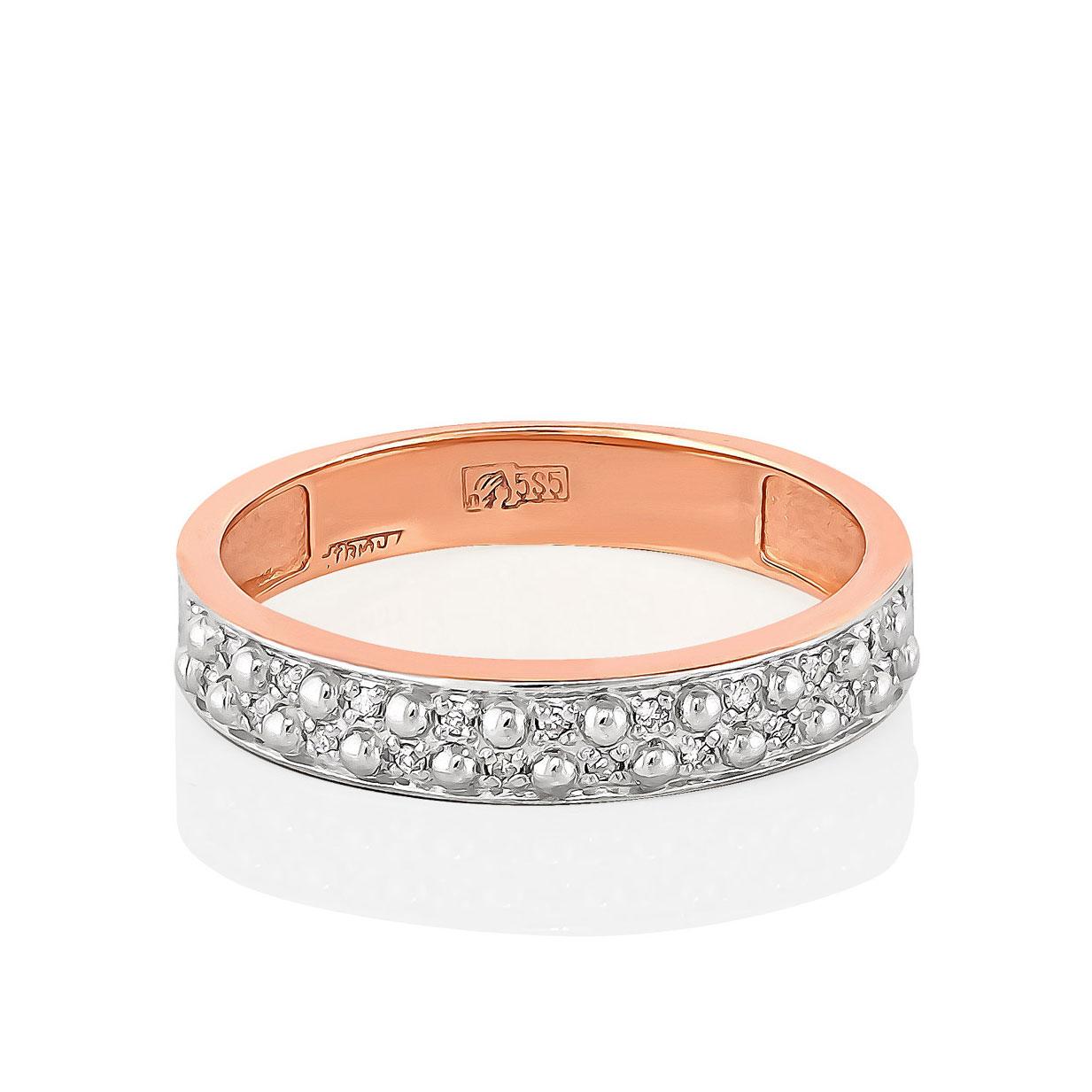 Обручальное кольцо из золота с бриллиантом арт. 1-0427-1000 1-0427-1000