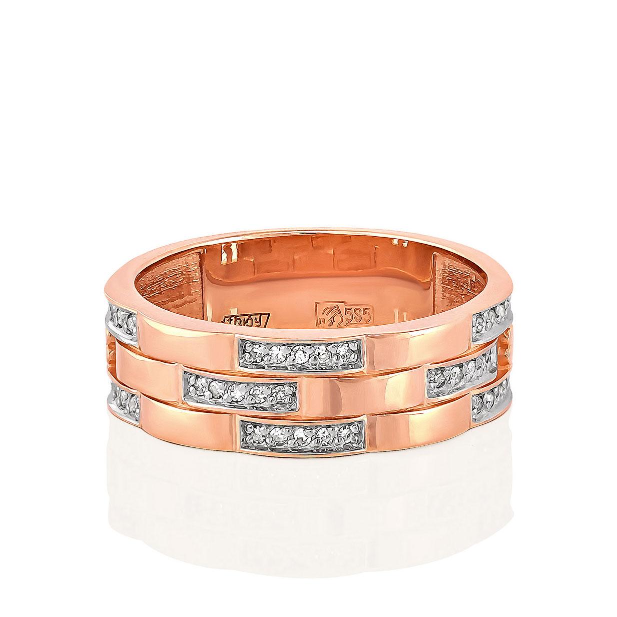 Обручальное кольцо из золота с бриллиантом арт. 1-0428-1000 1-0428-1000