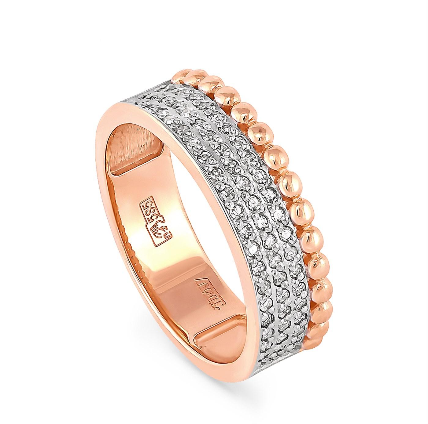 Обручальное кольцо из золота с бриллиантом арт. 1-0431-1000 1-0431-1000