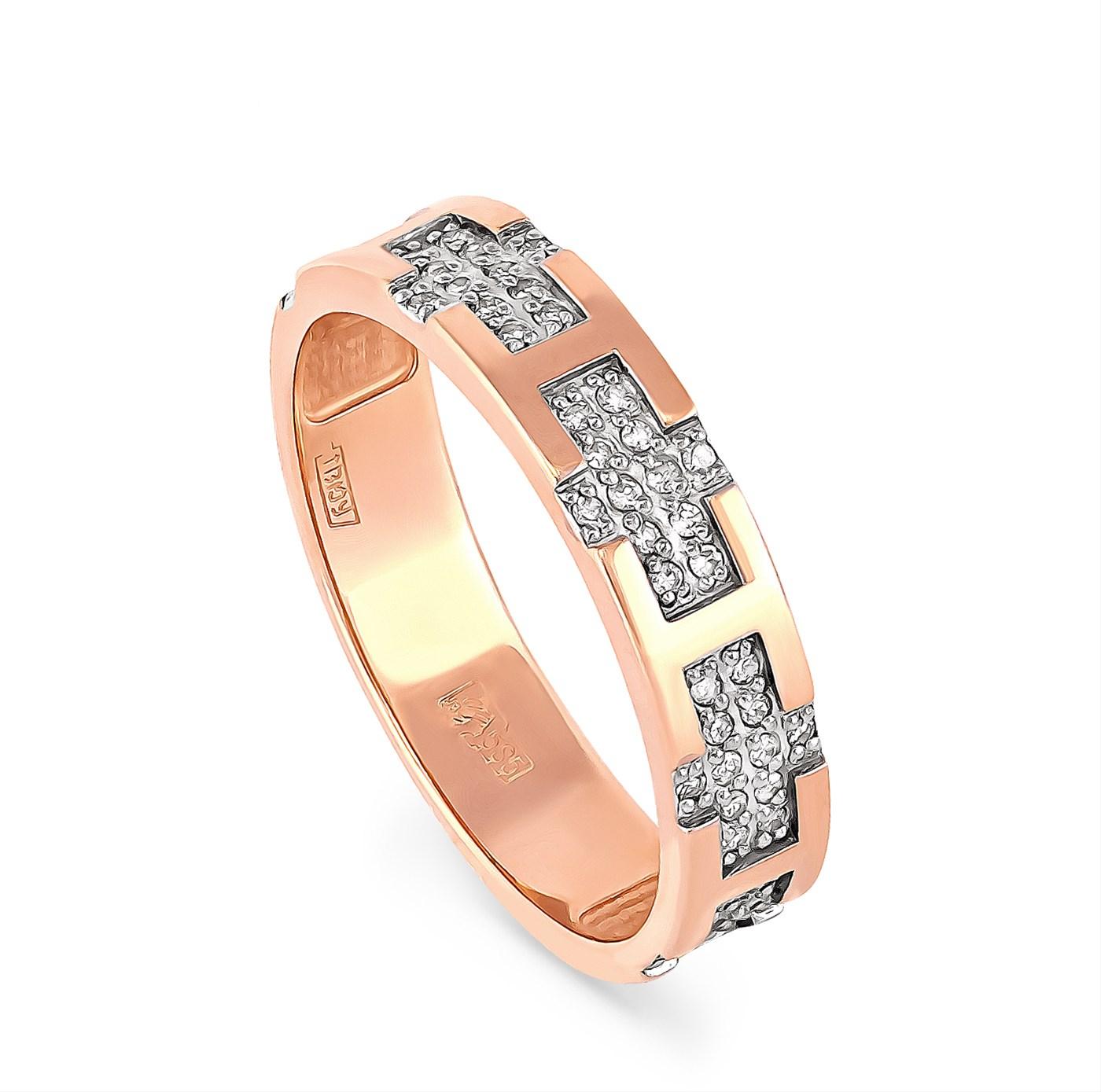 Обручальное кольцо из золота с бриллиантом арт. 1-0432-1000 1-0432-1000