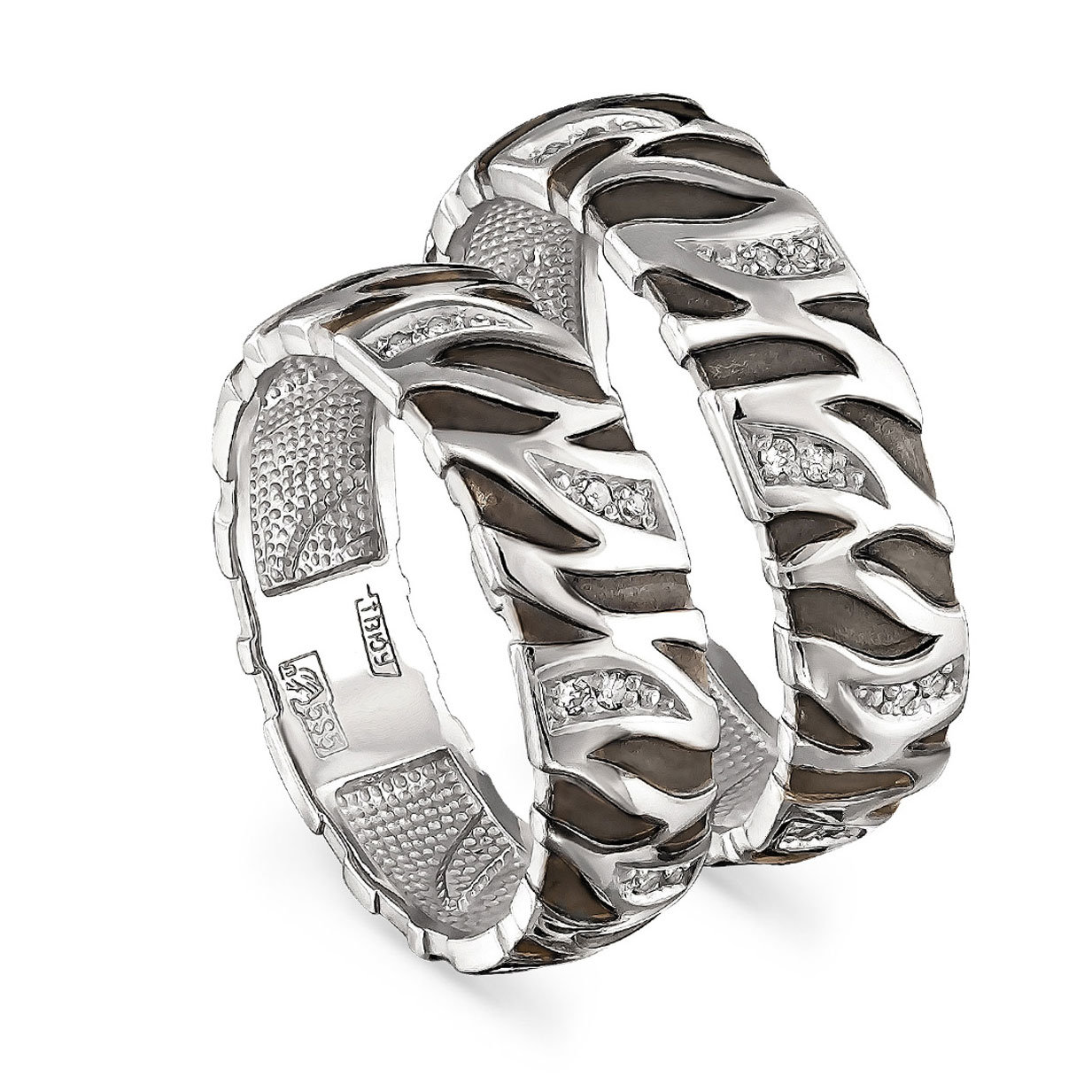 Обручальное кольцо из белого золота с бриллиантом арт. 1-1370-1000 1-1370-1000