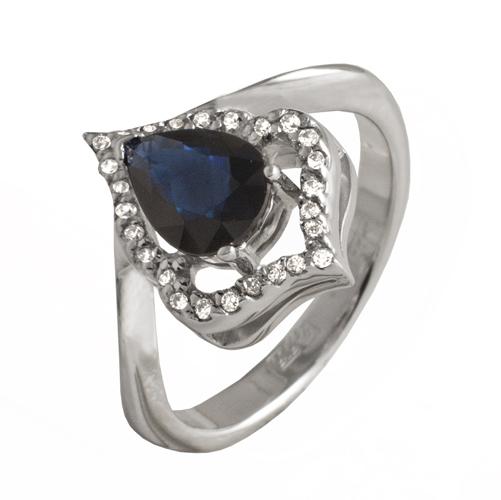Золотое кольцо Бриллиант и Сапфир арт. 91621903 91621903