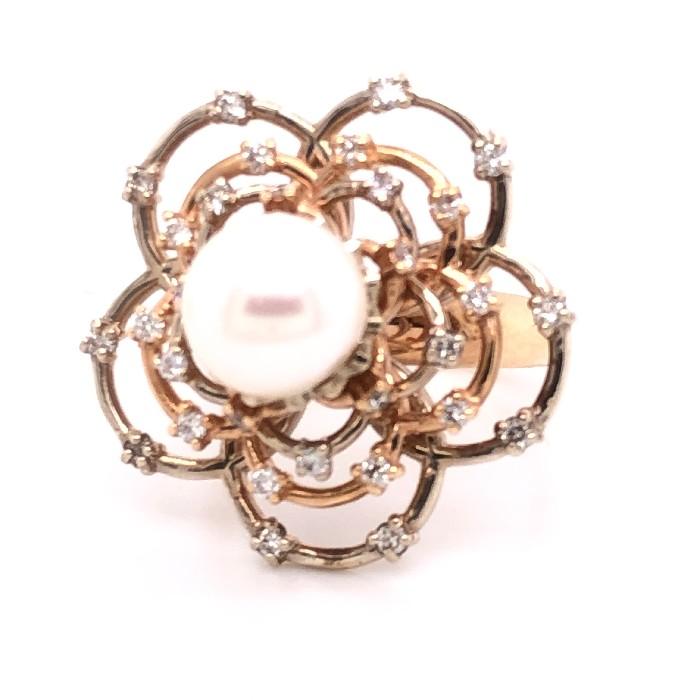 Золотое кольцо Бриллиант и Жемчуг арт. 91622098 91622098