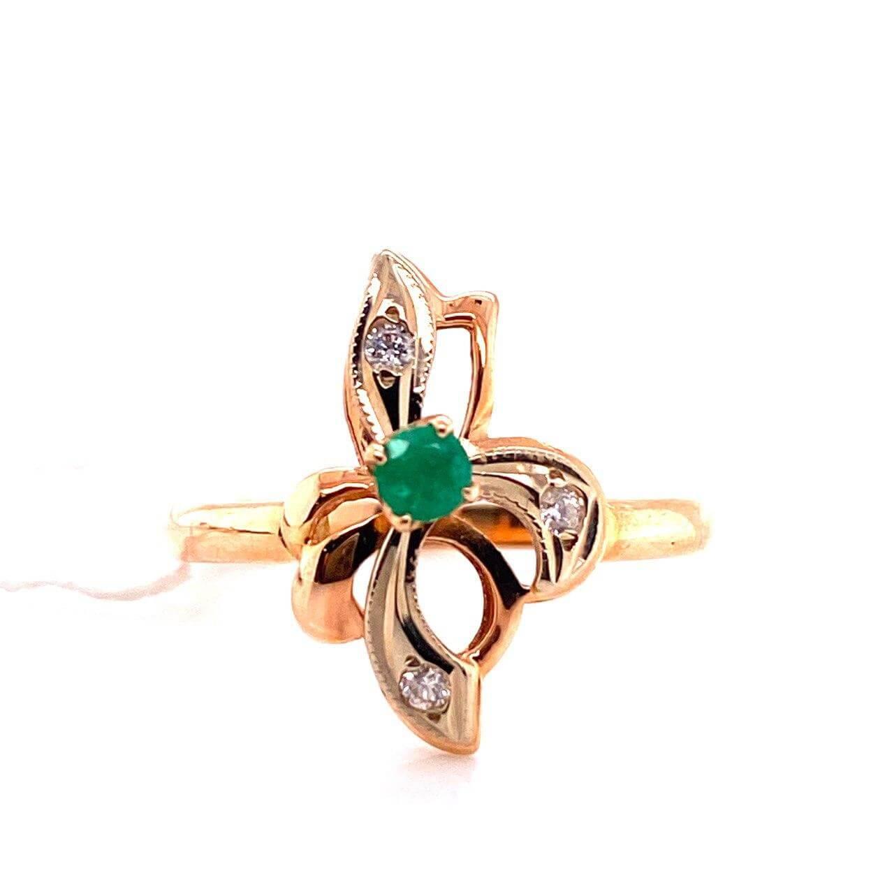 Золотое кольцо Бриллиант и Изумруд арт. г6680 г6680
