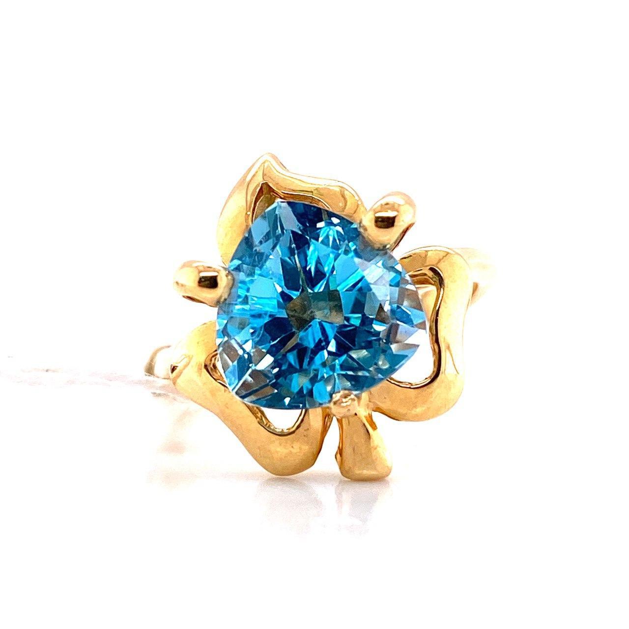 Кольцо из лимонного золота Топаз арт. г6162 г6162