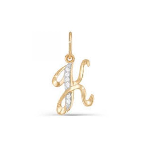 Подвес буква из золота с фианитом арт. 030729 030729