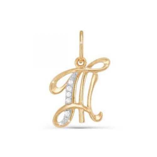 Подвес буква из золота с фианитом арт. 030726 030726
